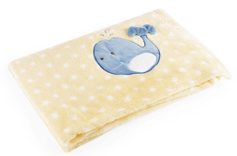 Manta para Bebês Baby Pil Amarela Baleia