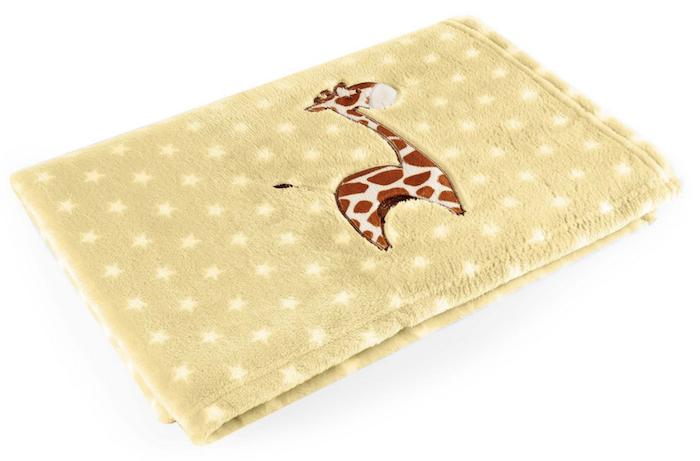 Manta para Bebês Baby Pil Amarela Girafa
