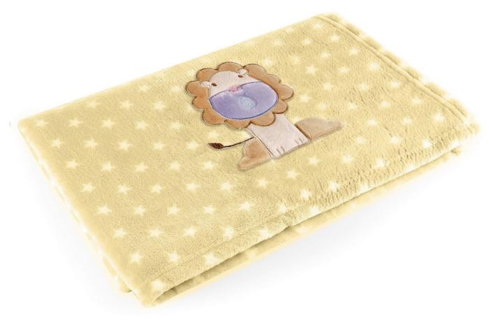 Manta para Bebês Baby Pil Amarela Leão
