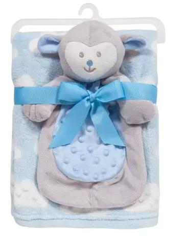 Mantinha Buba Baby com Naninha Ovelha Azul