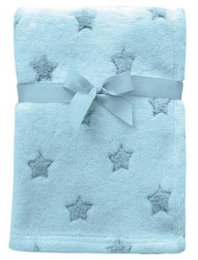 Mantinha Buba Baby Estrelas Azul