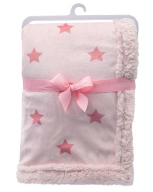 Mantinha Dupla Face Buba Baby Estrelas Rosa