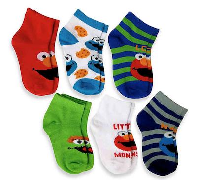 Meias Sesame Street Kit c/ 6 Pares