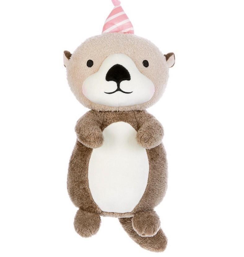 Metoo Animal de Pelúcia Castor Kawaii Aniversário