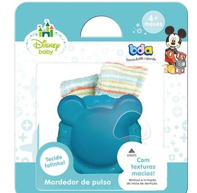 Mordedor BDA com Chocalho Disney Baby Mickey