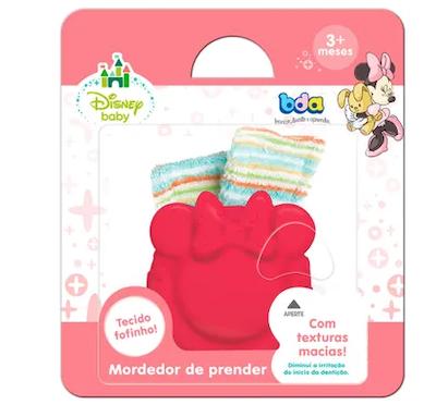 Mordedor BDA com Chocalho Disney Baby Minie