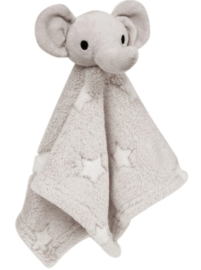 Naninha Buba Baby Elefante Estrelinha Cinza