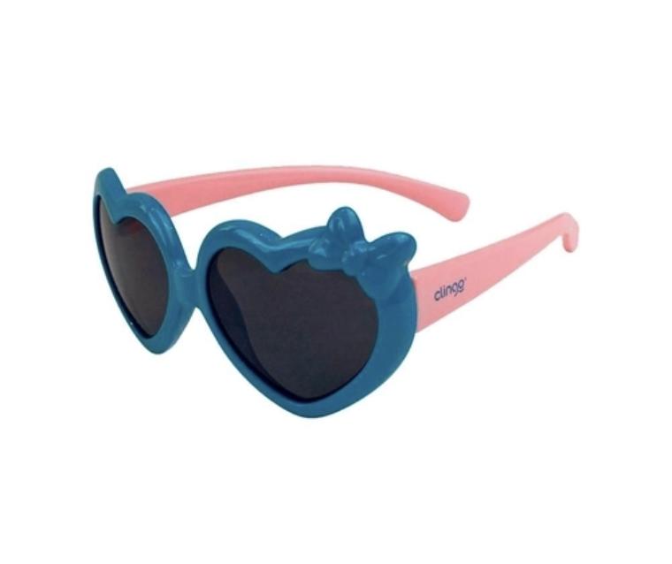 Óculos de Sol Coração Azul e Rosa Clingo 36M
