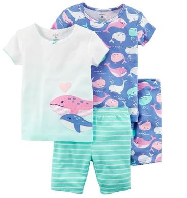 Pijama Baleias Kit c/4 peças Carter's