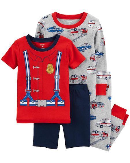 Pijama Bombeiro Kit c/4 Peças Carter's