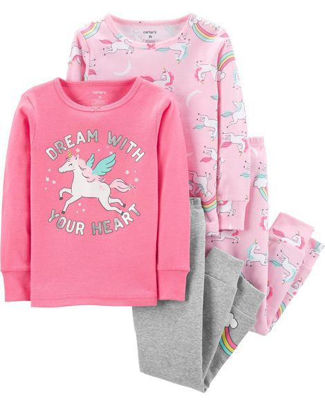 Pijama Dream With Your Heart Lit c/4 Peças Carter's