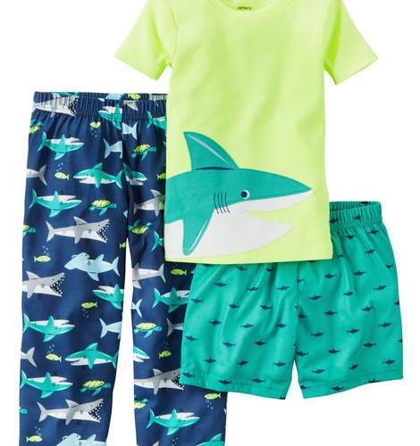 Pijama Kit c/3 peças Tubarão Carter's