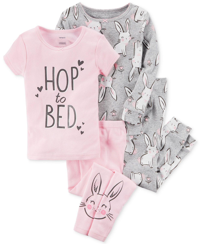 Pijama Kit c/4 peças Hop to Bed Carter's