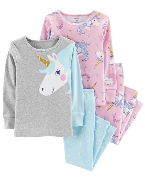 Pijama kit c/4 peças Unicórnio Dourado Carter's