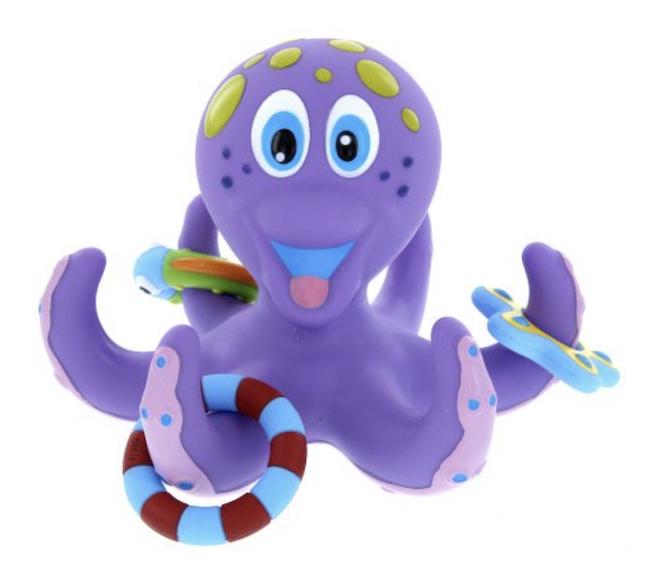 Polvo Brinquedo de Banho Divertido e Interativo Nuby