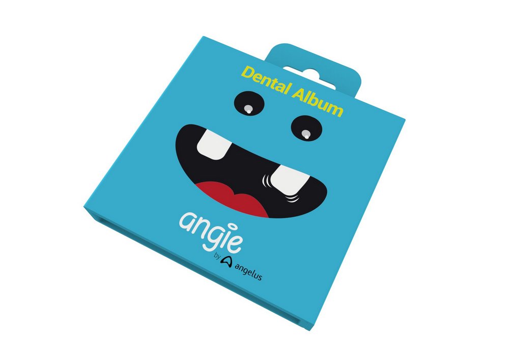 Porta Dentinhos Dental Àlbum Premium Angie Azul