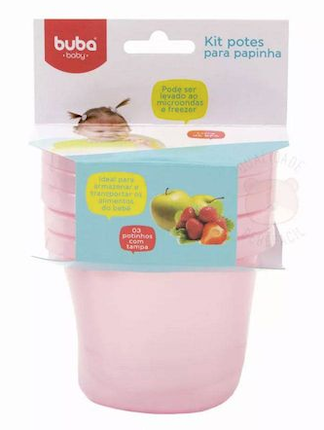 Potes Buba Baby Kit c/3 Rosa