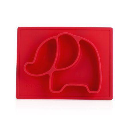 Prato de Silicone Nuby Elefante Vermelho