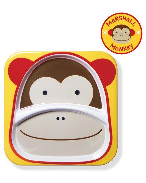 Prato Grande com Divisória Macaco Skip Hop Zoo