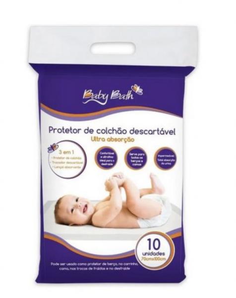 Protetor de Colchão Descartável Baby Bath