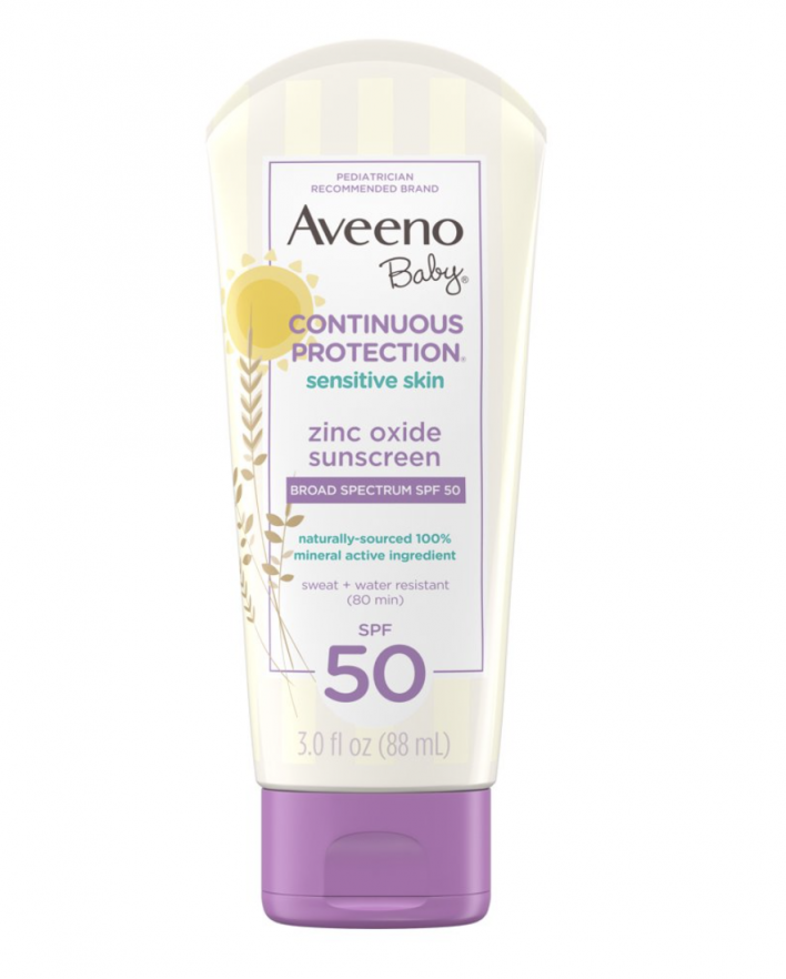Protetor Solar Mineral Contínuo Aveeno Baby 88 ml