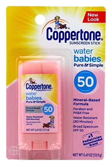 Protetor Solar Stick Water Babies Coppertone FPS 50