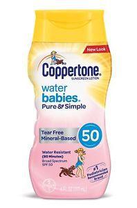 Protetor Solar Water Babies Pure & Simple Coppertone 50