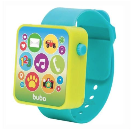 Relógio Infantil Musical Buba Azul