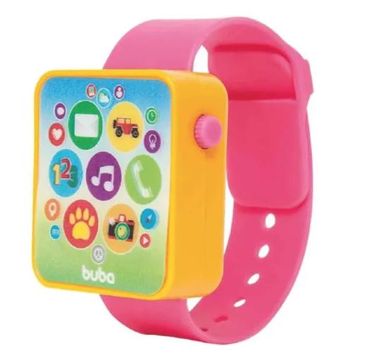 Relógio Infantil Musical Buba Rosa