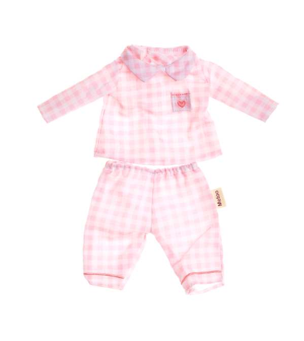 Roupa de Boneca Metoo Pijama Rosa com Cabide