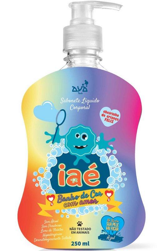 Sabonete Líquido Iaé Banho de Cor com Amor Azul