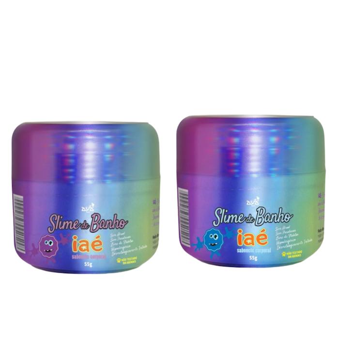 Sabonete Slime de Banho Kit Roxo e Azul Iaé