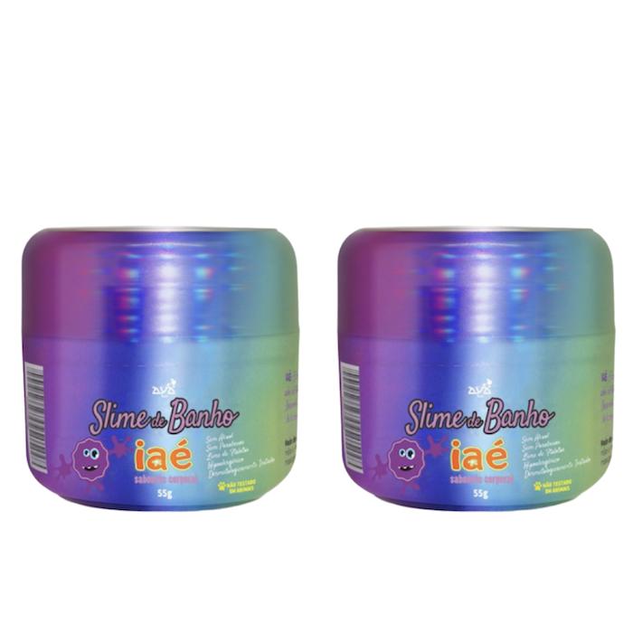 Sabonete Slime de Banho Kit c/ 2 Roxo Iaé