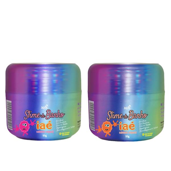 Sabonete Slime de Banho Kit Rosa e Amarelo Iaé