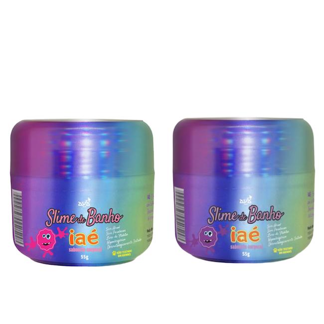 Sabonete Slime de Banho Kit Rosa e Roxo Iaé