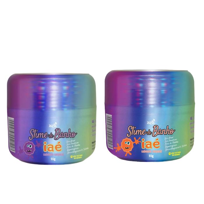 Sabonete Slime de Banho Kit Roxo e Amarelo Iaé