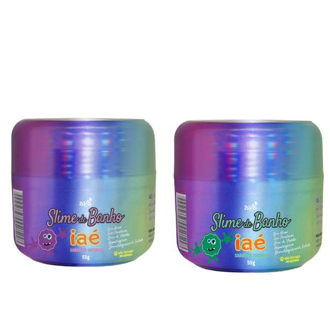Sabonete Slime de Banho Kit Roxo e Verde Iaé