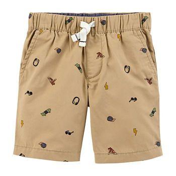 Shorts Caqui Estampado Carter's