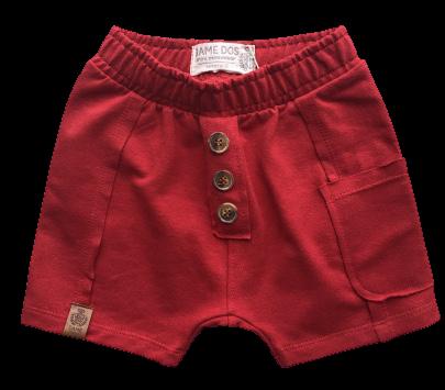 Shorts Moletom Vermelho Dame Dos