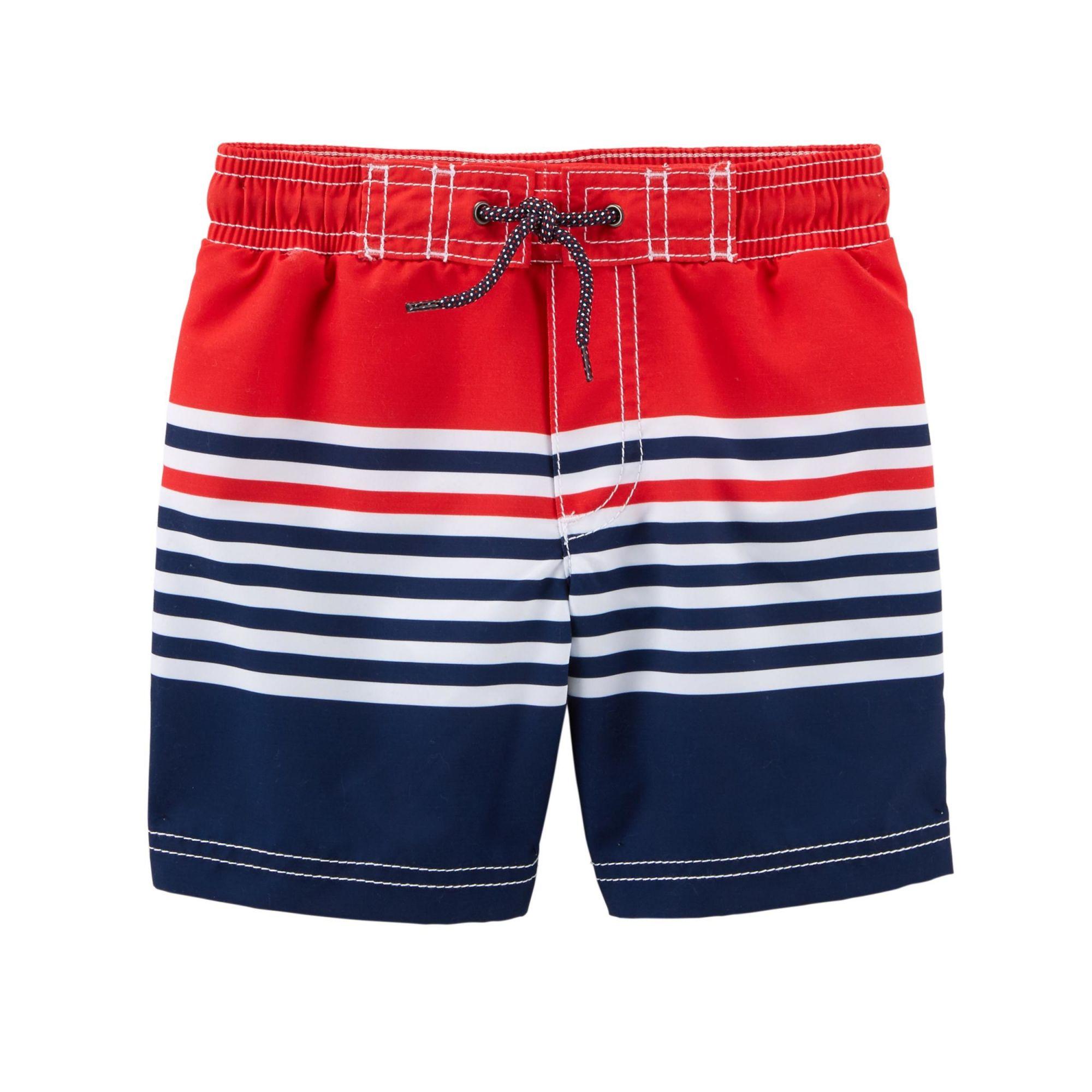 Shorts Nylon Listrado Carter's