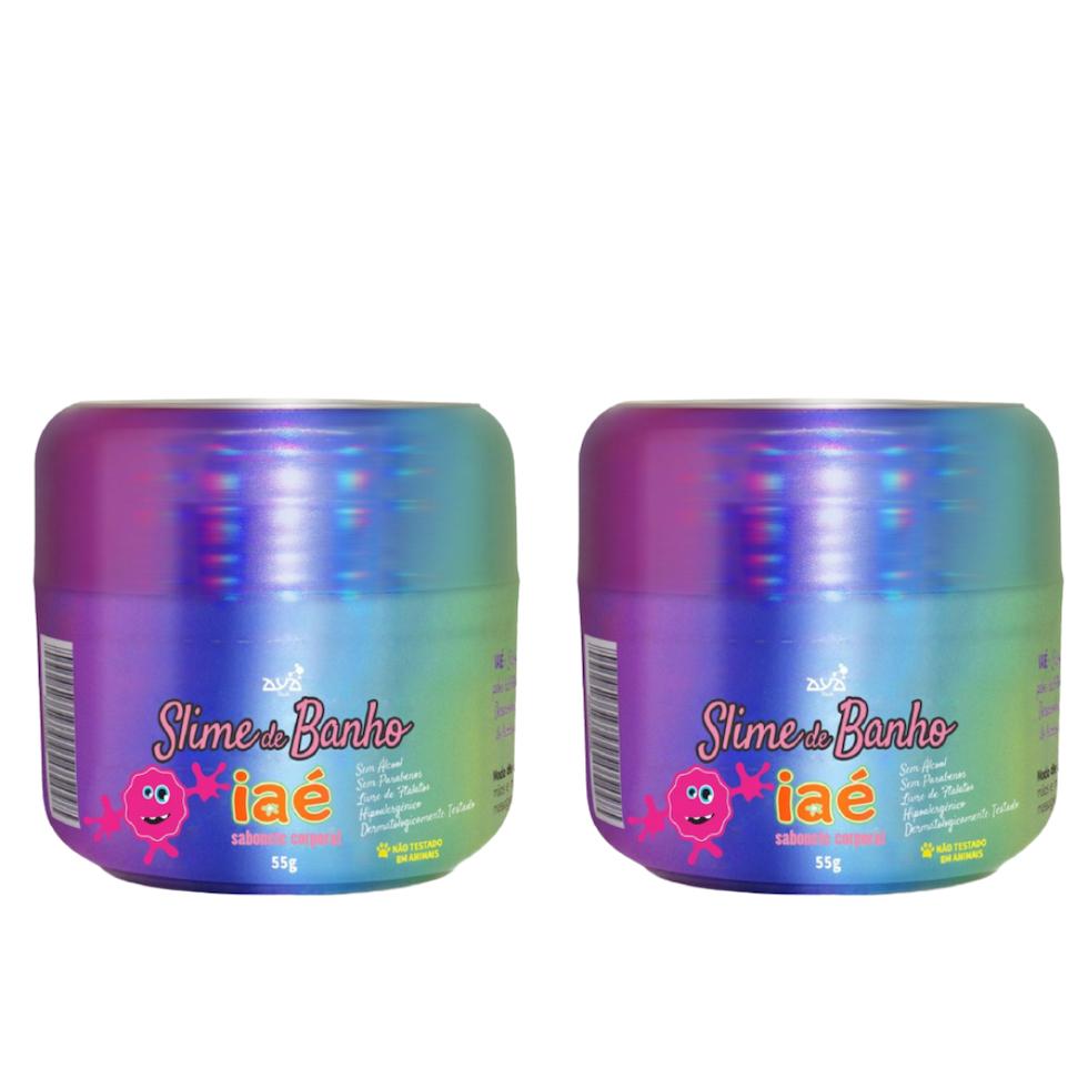 Slime de Banho Kit com 2 Rosa Iaé