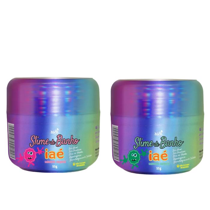 Slime de Banho Kit com Rosa e Verde Iaé