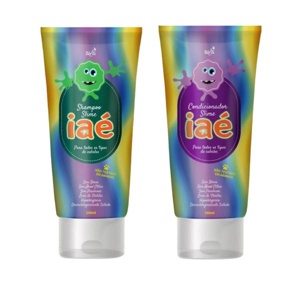 Slime de Banho Kit com Shampoo e Condicionador Iaé