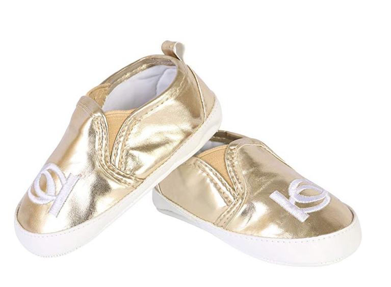 Tênis Dourado Bebé