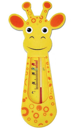 Termômetro de Banho Buba Baby Girafa Laranja