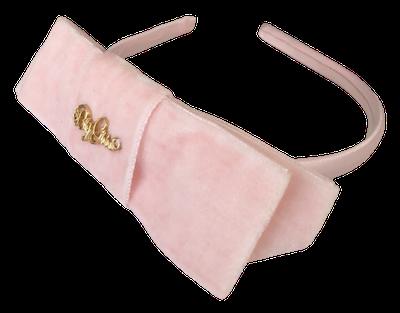 Tiara By Gus Luxo Laço de Veludo Rosa