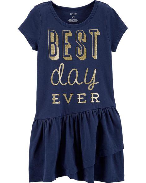 Vestido Best Day Ever Carter's