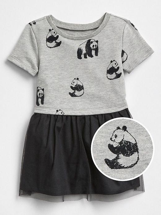 Vestido Panda Saia Tule Gap