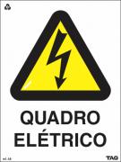 Sinalização Certificada de Alerta de Quadro Elétrico A8 15x20cm - PVC 2mm