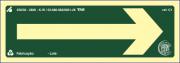 Sinalização Certificada de rota de fuga continuada C1 07x20cm - PVC 2mm